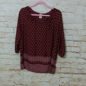 [Faded Glory] Red peasant blouse